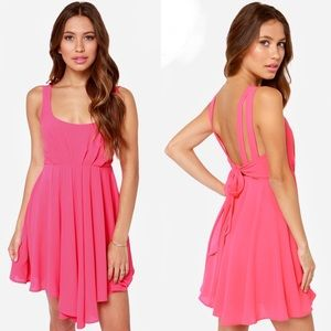 Lulu's Exclusive Tie Way or the Highway pink dress